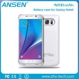 Wholesale External Battery Backup Cover - Free Shipping smart battery case Power Bank Cover battery bank case external backup battery case for Samsung note 5