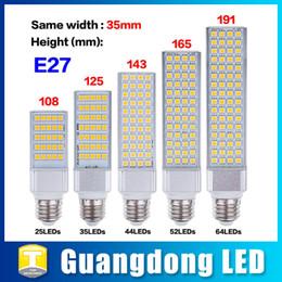 Wholesale E27 13w Energy Saving - E27 LED Corn Bulb Lamp 5W 7W 9W 11W 13W Energy Saving LED Lights Super Bright Light Bulbs AC 85-265V Horizontal Plug Light Cool White