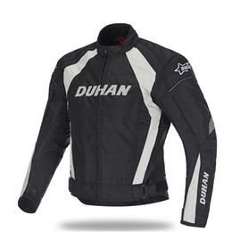 Wholesale Motorcycles Jackets Duhan - DUHAN Men's Motorcycle Windproof Riding Off-Road Racing Sports Jacket Clothing With Five Protector Guards