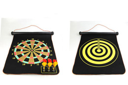 Wholesale Target Darts Wholesale - 2017 Hot Seller Magnetic Darts Plate Suit Target Toy Parent-Child Security Double-Sided Focking Magnetic Darts Plate By Free