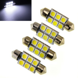 Wholesale C5w Smd - 100pcs 5050 6smd 6 SMD C5w 31mm 36mm 39mm 41mm White C5w High Quality Interior Festoon Dome Car Light Lamp Bulb new Led Car