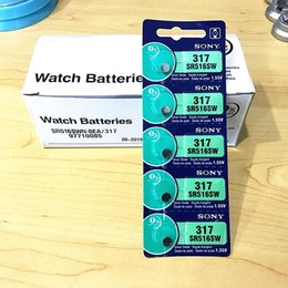 Wholesale Button Battery Silver Oxide - 10pcs 2unit for Sony SR516SW 317 1.55V Coin Cell battery Silver Oxide Watch Battery Made in Japan Non-Rechargeable Button Cell batteries