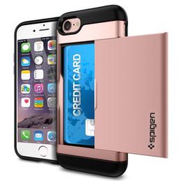 Capa da corrediça do iphone on-line-Estojo para cartão híbrido de crédito para iPhone XS 11 Pro Max Galaxy S10 S10 PLUS Telefone Covers Deslize de volta caso capa com TPU suave no vidro traseiro para Galaxy S8 9