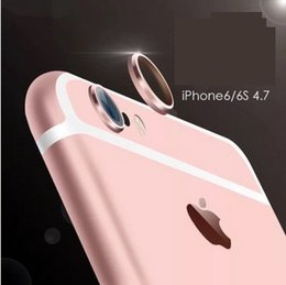 Wholesale Camera Accessories For Mobiles - Apple 6s mobile phone camera protection ring iPhone6 mobile phone accessories Apple metal head protection ring new