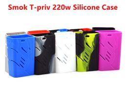 Wholesale G Bags Wholesale - Colorful silicon case protective skin sleeve bag wrap For Smok T-Priv G-Priv 220W Smok H-Priv 220W Ecigs TC Box Mod Silicone Case Rubber