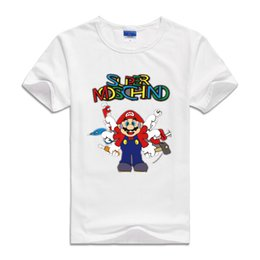 Wholesale Tee Shirts For Kids - 2017 Kids Infant Tees Clothes Cartoon japan for Mario brothers Baby Boys Sweatshirts short Sleeve Children T shirts Cotton Girls Tops