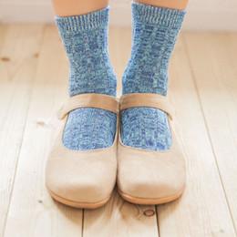 Tricotant des chaussettes pour hommes en Ligne-Vente en gros-1 paire New Casual Coton Design Multi-couleur robe tricoté laine Mens chaussettes pour femmes Hot calcetas mujer