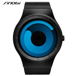 Wholesale Sinobi Watches Men - ashion watches for women SINOBI Mens Watches Top Brand Luxury 2017 Stainless Steel Mesh Strap Quartz Watch Men Fashion Aurora Style Relog...
