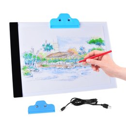Wholesale Art Pads - A4 LED Artist Thin Art Stencil Drawing Board Light Box Tracing Table Pad Free Shipping
