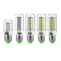 Wholesale Led Corn Globe Bulb E27 - LED Light Corn Bulb SMD5730 Lamp LED Bulbs E27 E14 GU10 B22 G9 Corn lamp 24 36 48 56 72LEDs Decorated Chandelier Lights