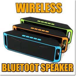 Wholesale Bluetooth Connection Iphone - SC208 Wirless Bluetooth Speaker Out Door Sport Music Player Support USB MP3 TF FM AUX Mobile Connection Subwoofer Load Speaker For Iphone