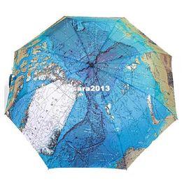 Wholesale Oil Paint Map - The Three Elephants Folding Parasols Rain Umbrella World Map Oil Painting Umbrella Red Green For Sale Women Umbrellas YP0304075