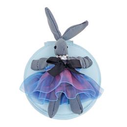 Wholesale Handbags Korea Wholesale - Korea Dongdaemun Bunny Mirror Keychains Metal Keychain Keyring Car Keychains Purse Charms Handbag Pendant