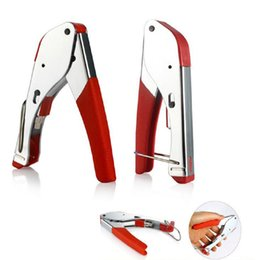 Wholesale Stripper Rg6 - RG59 RG6 Stainless Steel Coaxial Plier Network Cable Stripper Wire Crimper for Versatile Utilities