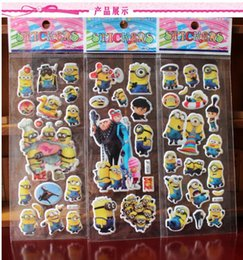 Wholesale Kindergarten Wall Decals - Despicable me Minions Wall Stickers 3D Cartoon Christmas Father Big cartoon Switch Stickers Kindergarten Reward DHL