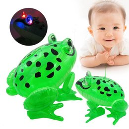 Wholesale frog led lights - Inflatable Frog with Light String PVC Inflatable LED Animal Balloons Classic Blow Up Kids Party Toys OOA3574