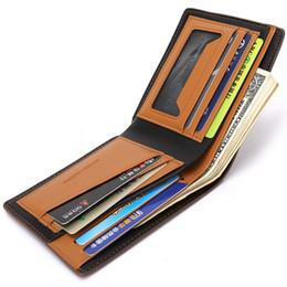 Wholesale Man S Purse Leather - 2017 New men 's wallet Wallet Purses Men's Wallets Carteira Masculine Billeteras Porte Monnaie Monedero Famous Brand