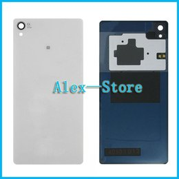 Wholesale Xperia Battery Cover - Z3 Rear Back Glass Cover Housing For Sony Xperia Z3 D6603 D6643 D6653 D6616 D6633 Tempered Glass Back Cover + NFC Battery Door Housing