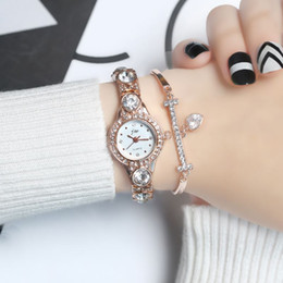 Wholesale Jewel Watch Fashion - 2017 Fashion Women watches Elegant Dress Steel Quartz Bracelet Wristwatches gold Ladies top brand relogio feminino Jewel watch