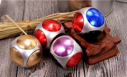 Wholesale Football Stress Balls - New Fidget Toy Football Round Shape Hand Spinner Metal Finger Stress Spinners Decompression Anxiety Toys 5 bearings Ball Fidget Spinner DHL