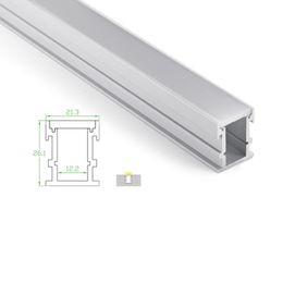 Série u on-line-10 X 1 M sets / lote 6000 série perfil de alumínio para tiras de led e canal de perfil de U à prova d 'água para chão ou recesso lâmpadas de assoalho
