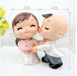Wholesale Rose Topper - Wholesale-Free Shipping 2014 Yes to the Rose Bride and Groom Couple Figurine Wedding Cake Toppers