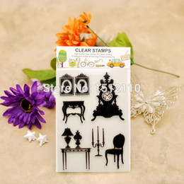 Wholesale chair card - Wholesale- Scrapbook DIY photo cards account rubber stamp clear stamp transparent stamp Home Decoration table chair candle 11x16cm KW651433