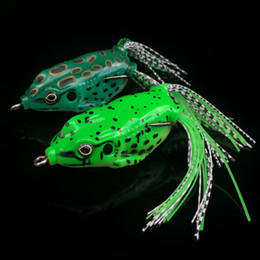 Wholesale Frog Baits - 2-color 6cm 15g Ray frog Soft baits fishing hooks Silicone lures Artificial Pesca Tackle Accessories