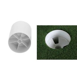 Wholesale Golf Practice Putting Cup - Wholesale- Plastic Golf Green Hole Cup Practice Aids Putting Putter Backyard Training New