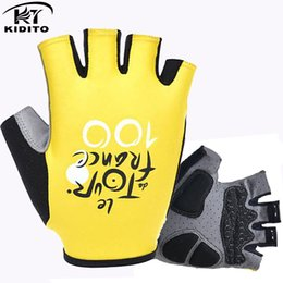 Wholesale Cycling Gloves Tour - 2016Brand Tour De France Pro Gel Pad Cycling Ciclismo Gloves  Mans Bike Sports Gloves  Breathable Racing Mtb Bicycle Cycle Gloves