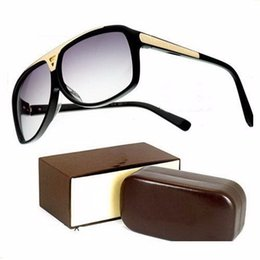 Wholesale Mens Sunglasses High Quality - High Quality Brand Sun glasses mens Fashion Evidence Sunglasses Designer Glasses Eyewear For mens Womens Sun glasses 4 color