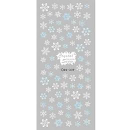 Harajuku nagel online-2017 DIY Designer Winter Wassertransfer Nägel Kunst Aufkleber Weiße Schneeflocke harajuku Nail Wraps Folienaufkleber maniküre aufkleber