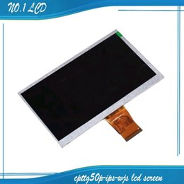 Wholesale Internal Screens - Wholesale-New 7'' inch LCD screen cable CPTTG50P-IPS-WJS 50pin LCD display LCD internal display Free shipping