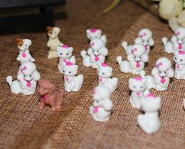Wholesale Fine Toys - 50pcs lot small lovealbe cute dogs cats 2CM, fine animal toy doll for children, Cartoon animiation ornaments