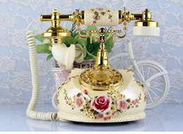 Wholesale Angels Called - Decoration Arts crafts home boat Wooden Factory direct calls show retro classical style ancient marble Telephone Phone creative