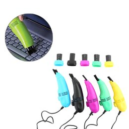 Wholesale Vacuum Cleaner For Pc - Mini USB Vacuum Keyboard Cleaner Dust Machine Brush Dust Cleaning Kit For PC Laptop Notebook