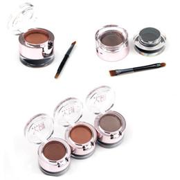 Wholesale Powder Eyeliner Pencil - Eyebrow + eyeliner 2in1 Eyebrow Powder Gel Long-Wear Gel Eyeliner 1pcs 2color Waterproof Sweat Eye Brow Powder