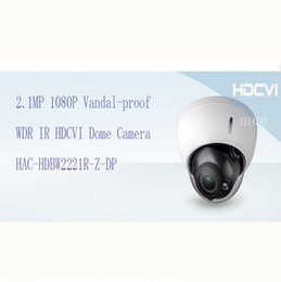 Wholesale Outdoor Security Dome - DAHUA Security Camera 2.1MP 1080P FULL HD Vandal-proof WDR IR HDCVI Dome Camera IP67 Without Logo HAC-HDBW2221R-Z-DP