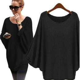Wholesale Wholesale Sweater For Females - Wholesale- New Fashion Sweater Women Autumn Winter Pullover Solid Knitted Sweater Top for Women Female Oversized Sweater Sueter Dec7