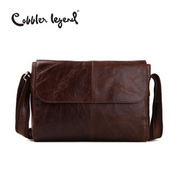 Wholesale Vintage Leather Satchels For Men - Wholesale- Cobbler Legend 2016 New Men's Business Briefcase Genuine Leather Male Vintage Shoulder Bags Luxury Leather Messenger Bag For Man