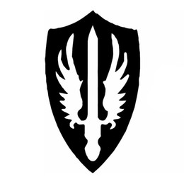 Wholesale eagles car stickers - Wholesale 10pcs lot Sacred Ground Badge Dharma Alex Sword Art Eagle Wings Car StickersFor Motorhome Wall Car Styling Reflective Vinyl Decal
