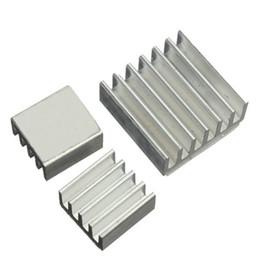 Wholesale Raspberry Cooler - Wholesale- 3Pcs Aluminum Heatsink Chip CPU GPU VGA RAM IC Heat Sink for Voltage Regulator Cooling Radiator Cooler Kit for Raspberry