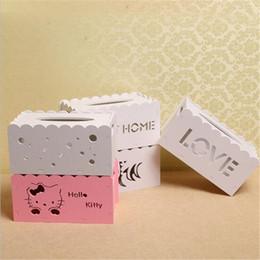 DHL Tissue Boxes Bonito Criativo Caixa De Armazenamento Carta Oco Out Escultura Caixa De Papel Branco Dos Desenhos Animados Acessórios Do Bebê Produtos de Fornecedores de rainha garota coroa