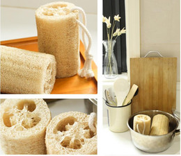 Wholesale Sponge Rope - Fresh Natural Loofah Scrubber 7'' Bath Body Cleaning Spa Shower Skin Care Loofa Sponge Luffa Brush, Rope Free