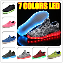 Wholesale Dance Fabrics - Hot Melbourne Shuffle Dance 7 LED Light Rio Olympic Unisex Lace Up Luminous Shoes Sports Sneaker Casual Skateboard Ghost dancing Cheap