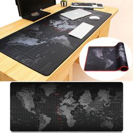 Wholesale World Map Laptop - World Map Large Size Non-slip Mouse Pad Mat Laptop Computer Keyboard Rubber Gaming Mousepad 90x40cm 80x30cm