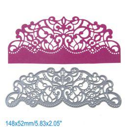 Wholesale Lacing Cards - Arc Lace DIY Metal Cutting Dies Stencil Scrapbook Card Album Paper Embossing Crafts