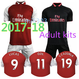 Wholesale Best New Homes - Best quality 2017 2018 new Gunners armory OZIL home soccer jersey kit 17 18 ALEXIS WILSHERE GIROUD CHAMBERS XHAKA away football shirt kits