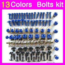 Carenados aprilia rsv online-Kit de pernos de carenado completo para Aprilia RSV1000R 03 04 05 06 RSV1000 R RSV 1000 2003 2004 2005 2006 Kit de pernos de tuerca de tornillos de cuerpo 13Colors