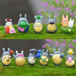 Wholesale Japanese Wholesale Home Decor - New 1pcs Miyazaki Totoro Figure Gifts Doll Miniature Resin Japanese Cute Lovely Anime Home Garden Decor Random Send